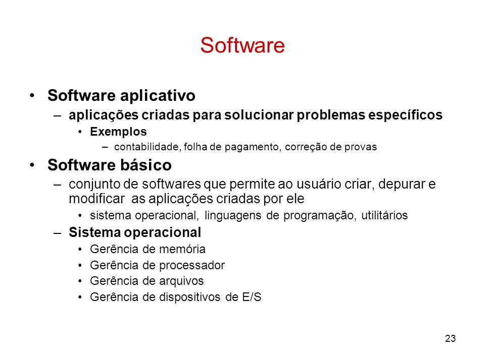 Software Software aplicativo Software básico