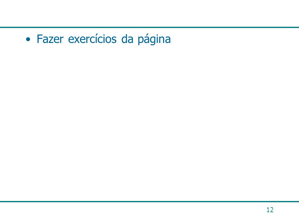 Fazer exercícios da página