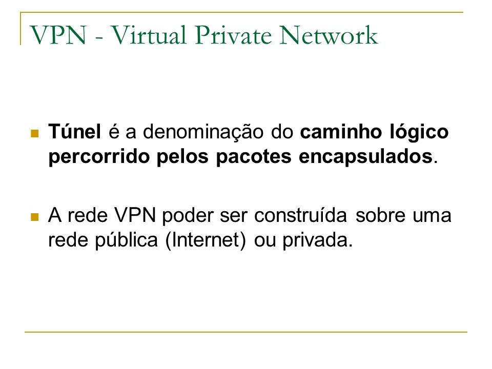 VPN - Virtual Private Network