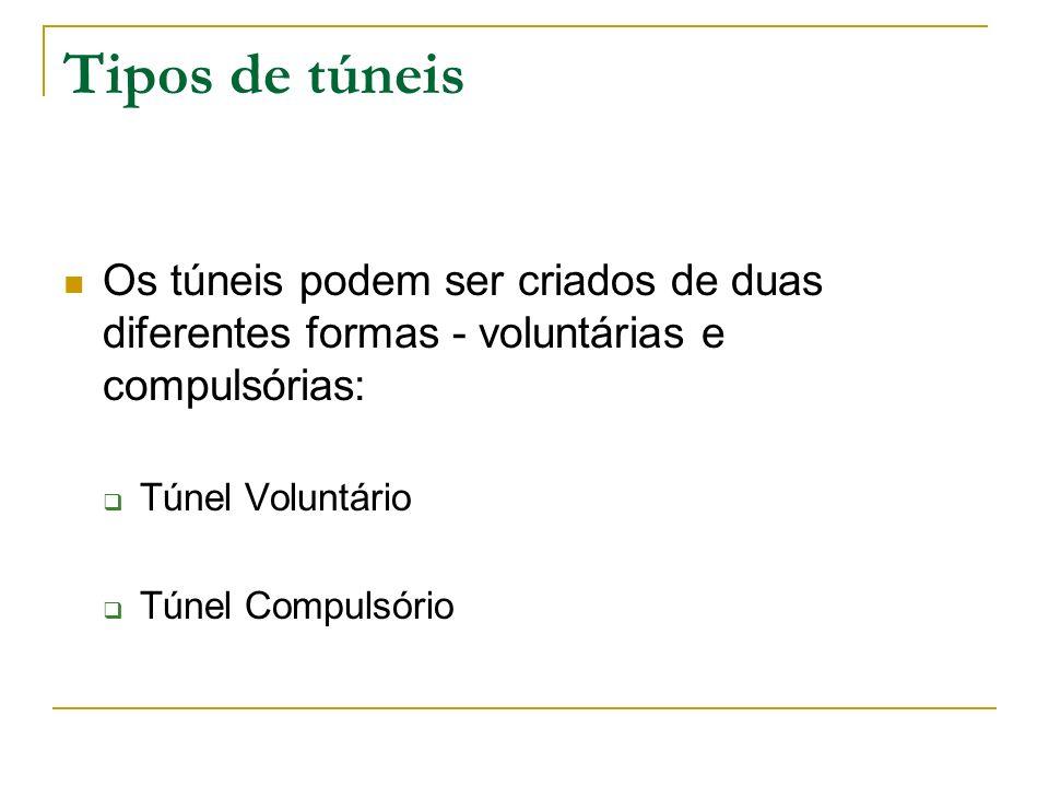 Tipos de túneisOs túneis podem ser criados de duas diferentes formas - voluntárias e compulsórias: Túnel Voluntário.