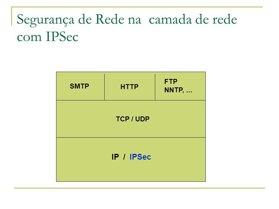 Segurança de Rede na camada de rede com IPSec