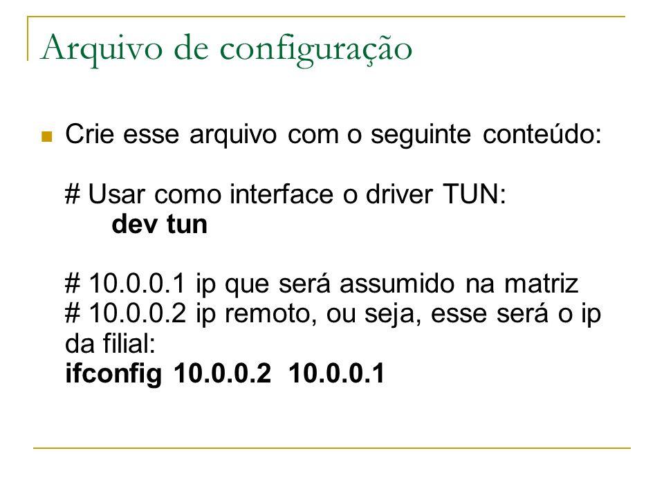 Arquivo de configuração