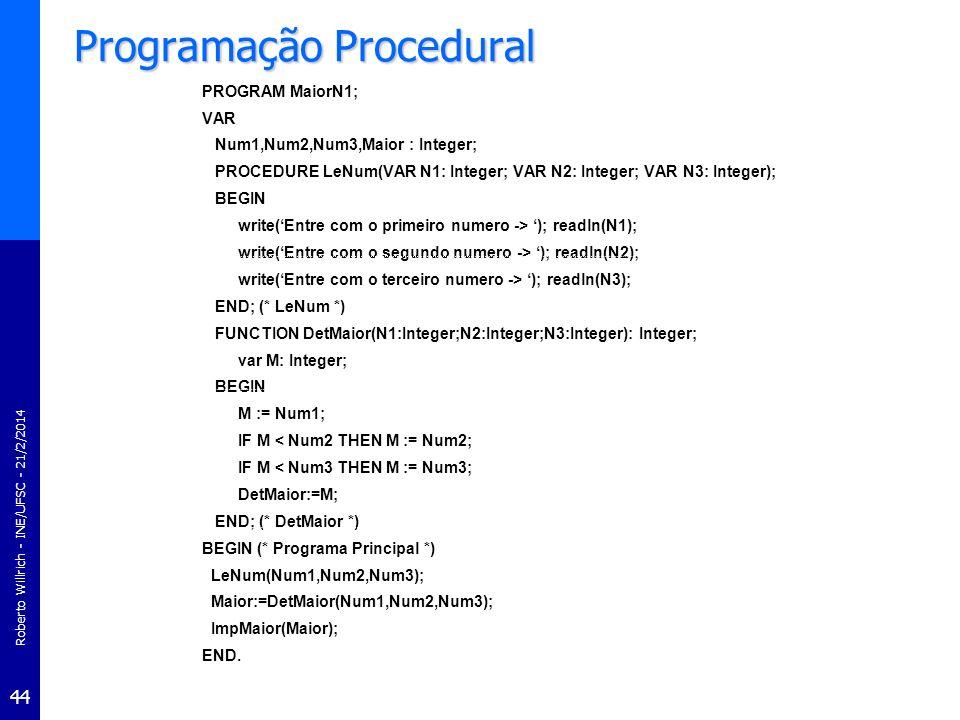 Programação Procedural