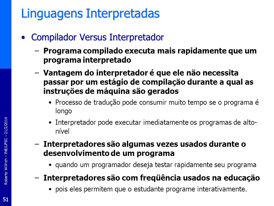 Linguagens Interpretadas