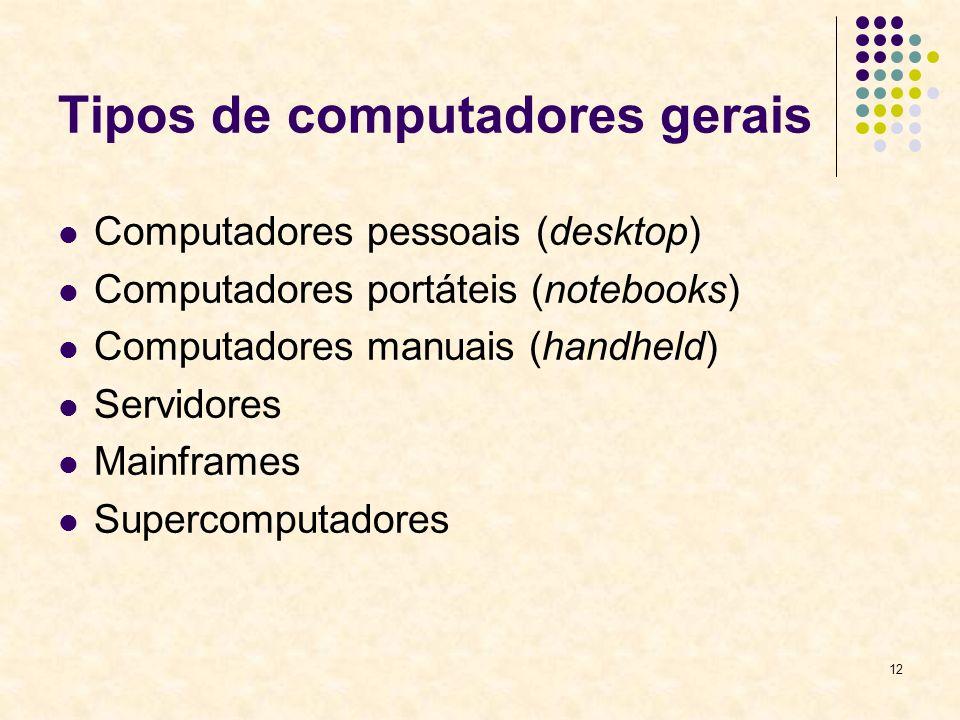 Tipos de computadores gerais