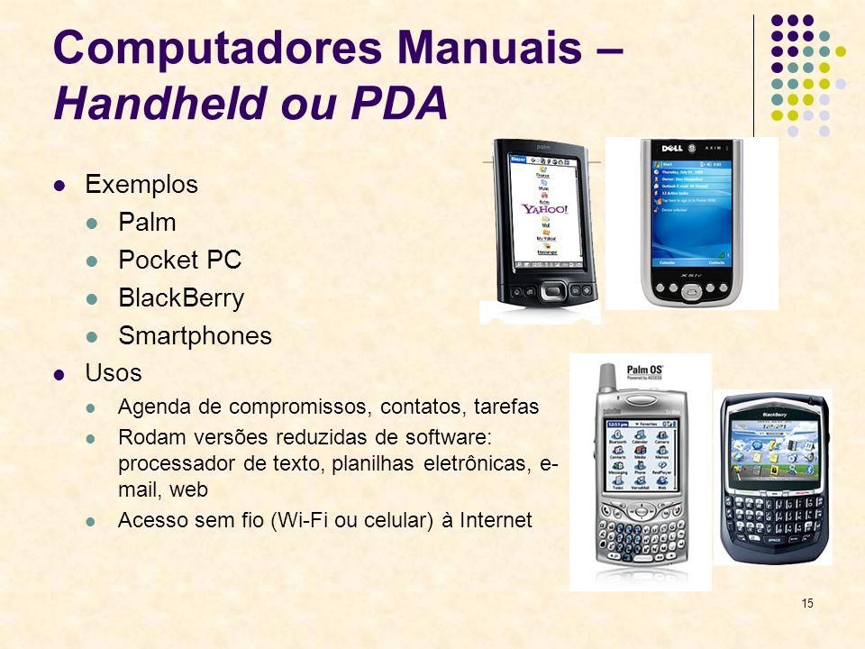 Computadores Manuais – Handheld ou PDA
