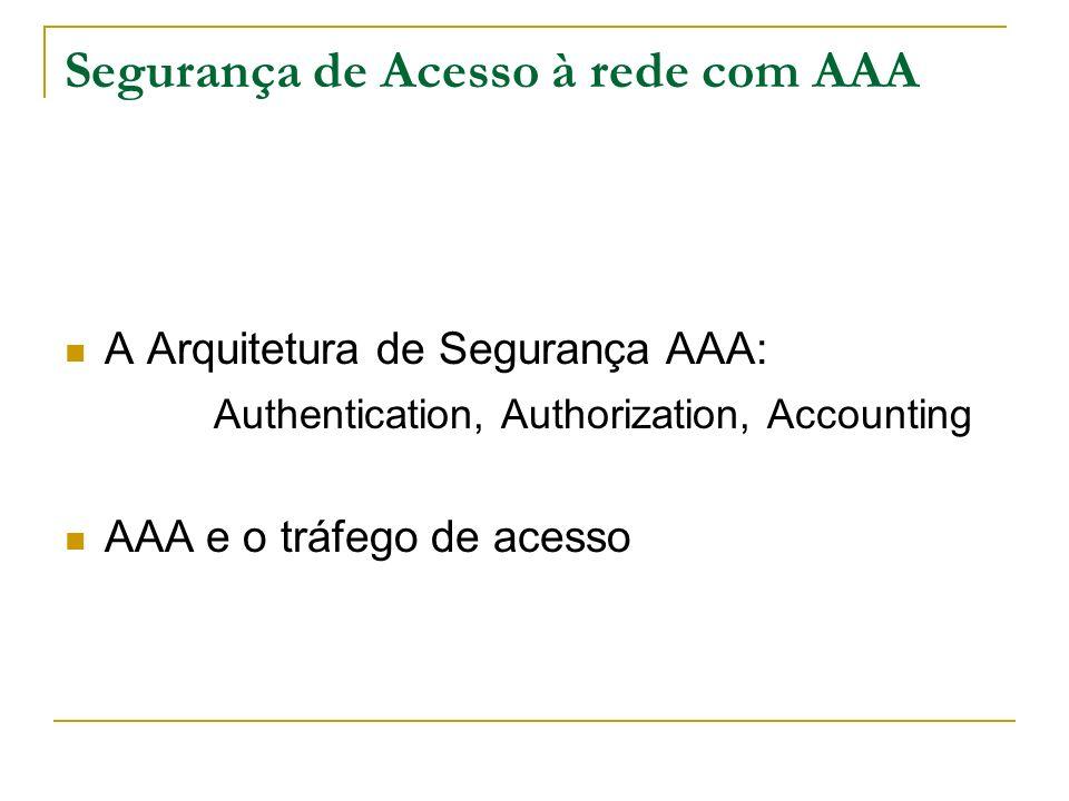 Segurança de Acesso à rede com AAA