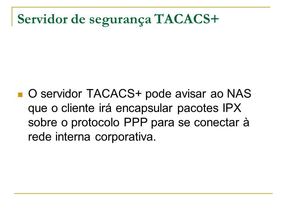 Servidor de segurança TACACS+
