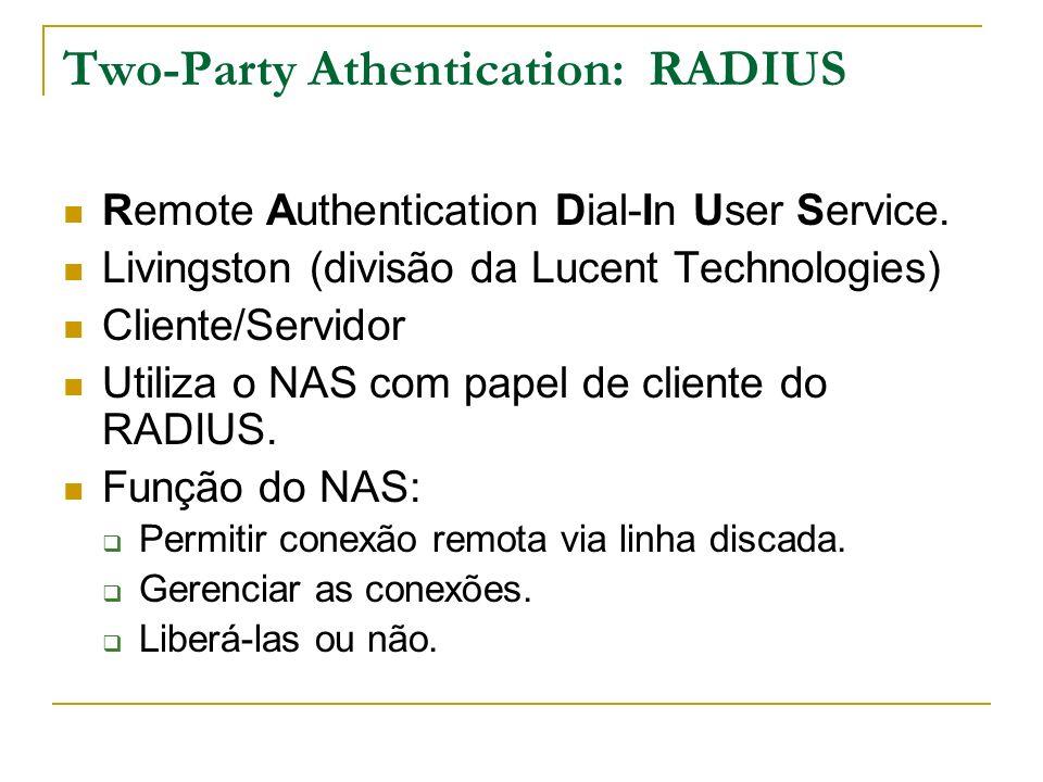 Two-Party Athentication: RADIUS