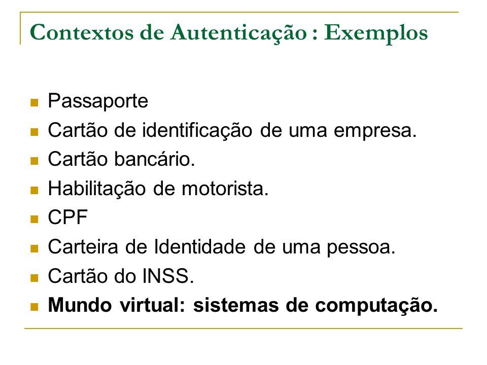 Contextos de Autenticação : Exemplos