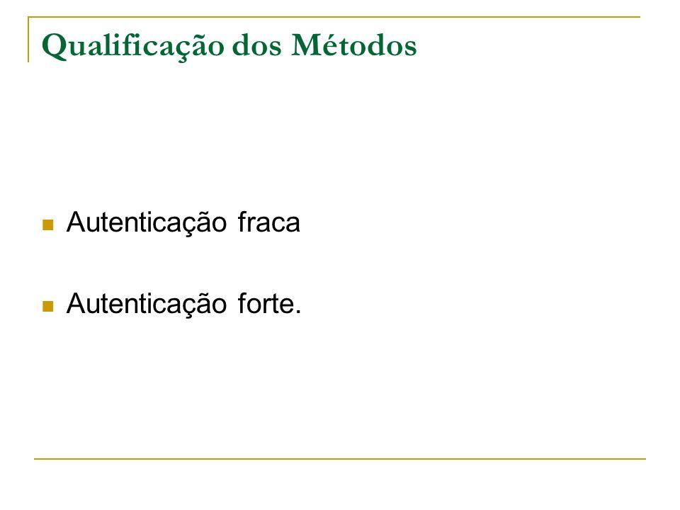 Qualificação dos Métodos