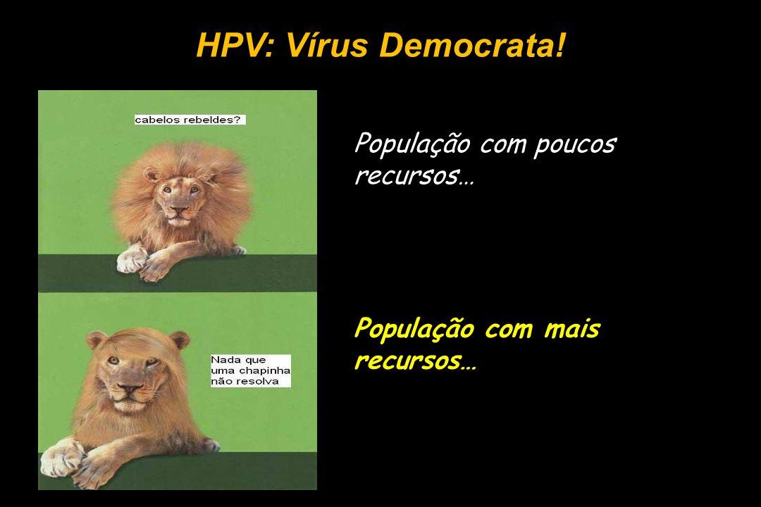 HPV: Vírus Democrata! População com poucos recursos…