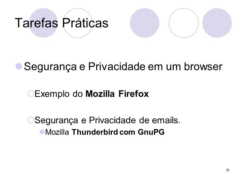 Tarefas Práticas Segurança e Privacidade em um browser