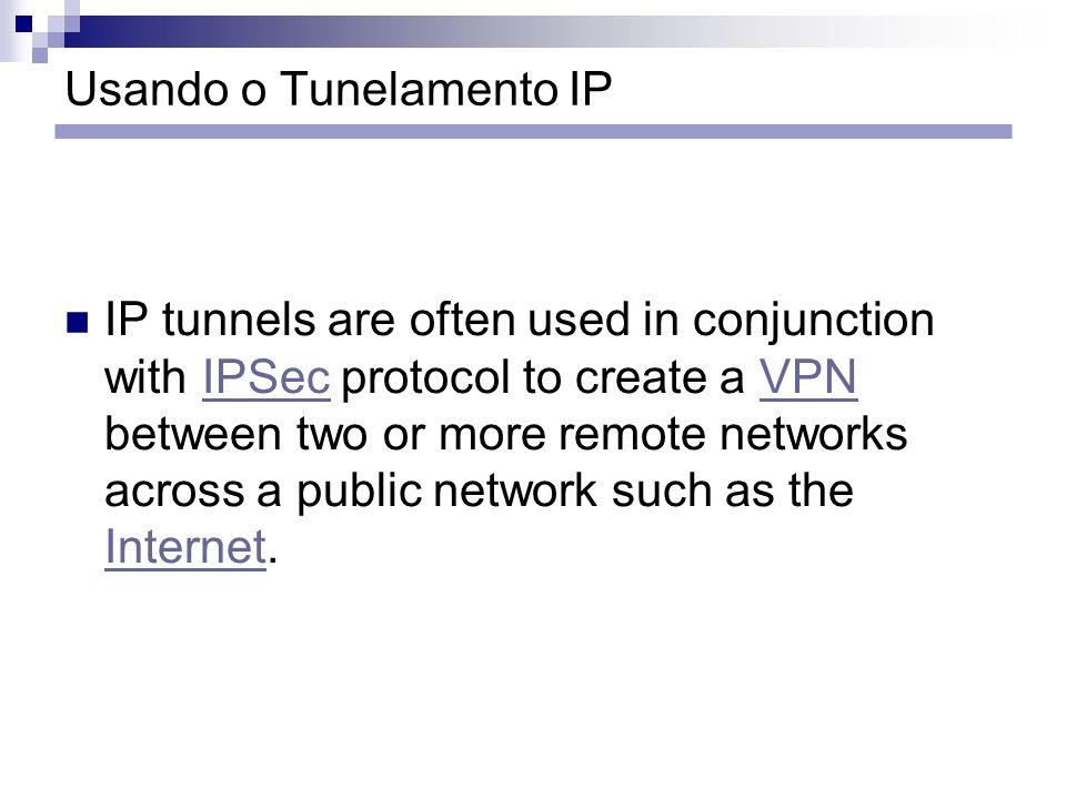Usando o Tunelamento IP