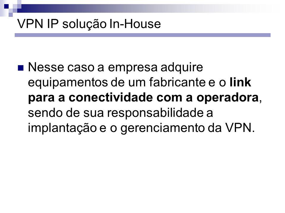 VPN IP solução In-House