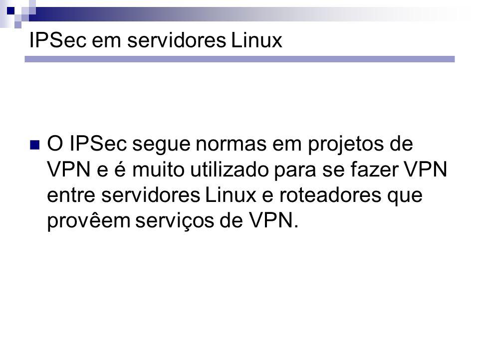 IPSec em servidores Linux
