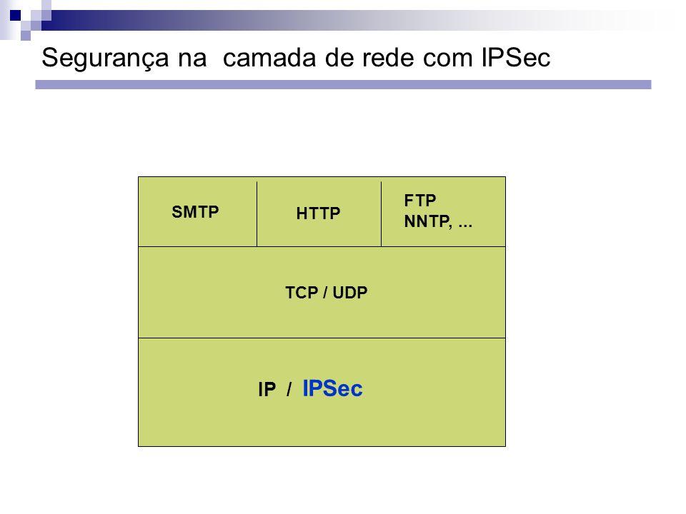 Segurança na camada de rede com IPSec