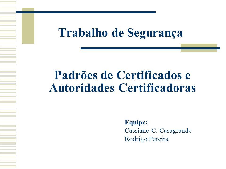 Equipe: Cassiano C. Casagrande Rodrigo Pereira