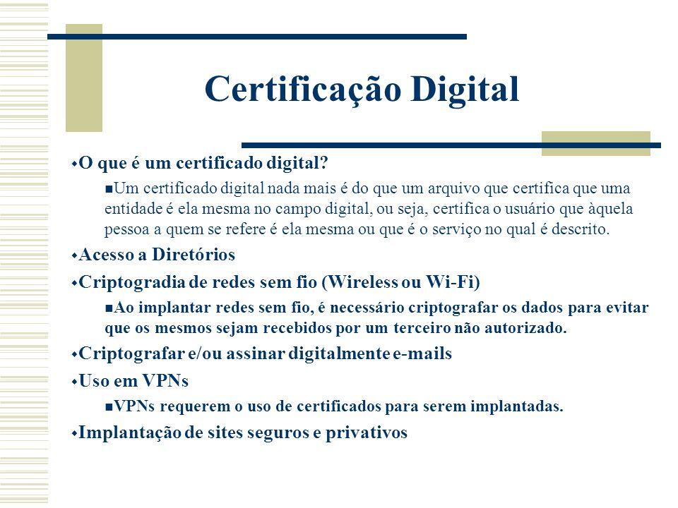 Certificação Digital O que é um certificado digital