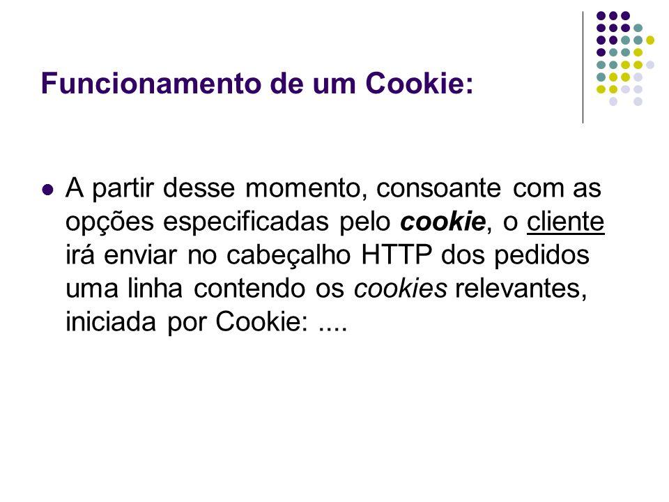 Funcionamento de um Cookie: