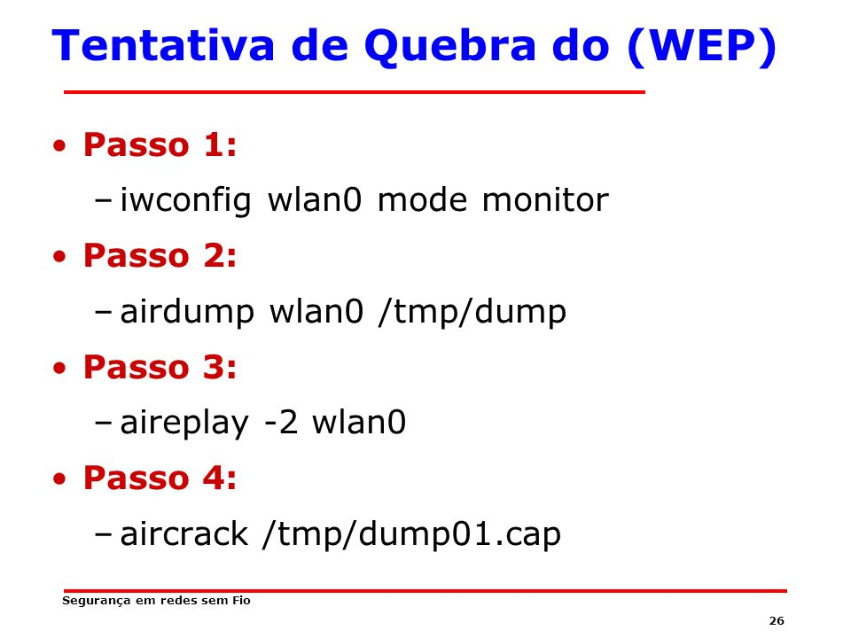 Tentativa de Quebra do (WEP)
