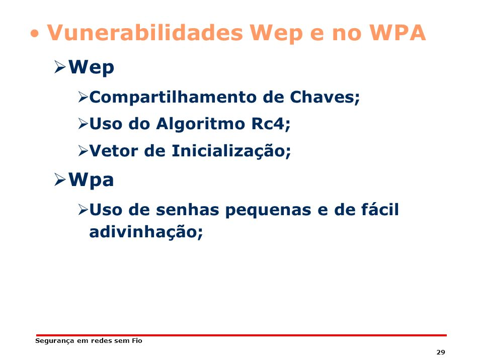 Vunerabilidades Wep e no WPA