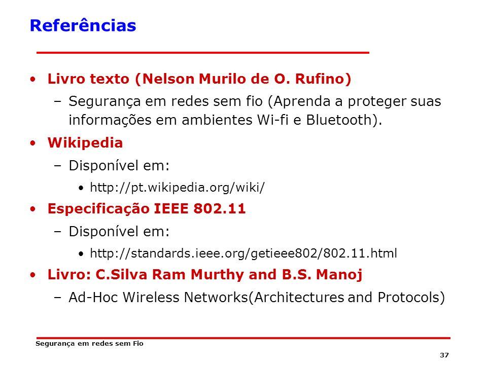 Referências Livro texto (Nelson Murilo de O. Rufino)