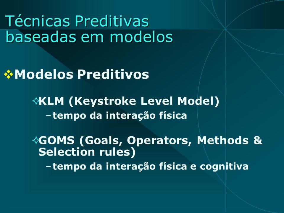 Técnicas Preditivas baseadas em modelos