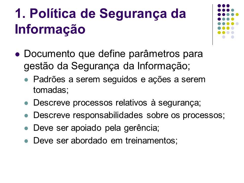 1. Política de Segurança da Informação