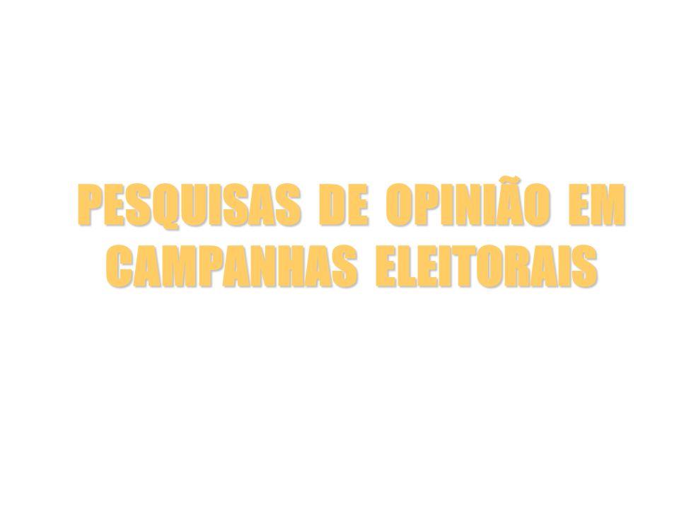 PESQUISAS DE OPINIÃO EM CAMPANHAS ELEITORAIS