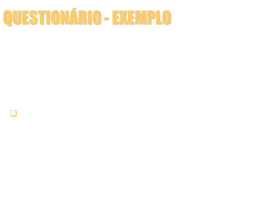 QUESTIONÁRIO - EXEMPLO