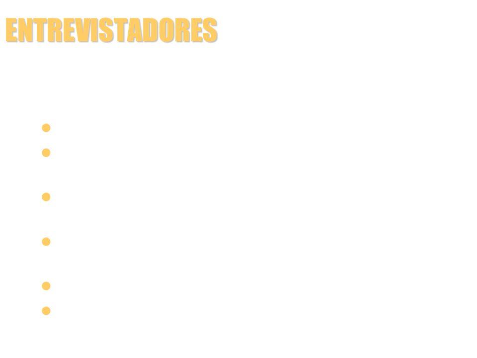 ENTREVISTADORES FORMA DE PERGUNTAR