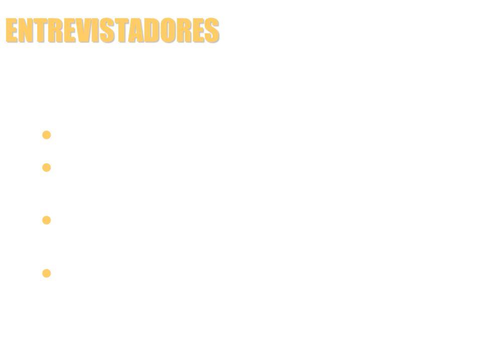 ENTREVISTADORES FORMA DE REGISTRAR A RESPOSTA