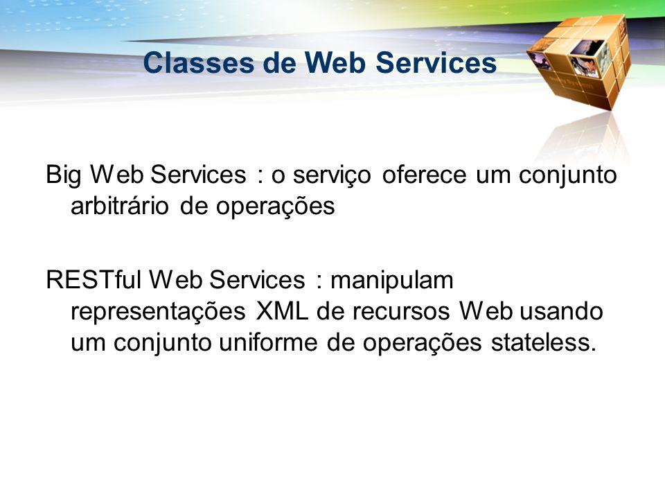 Classes de Web Services