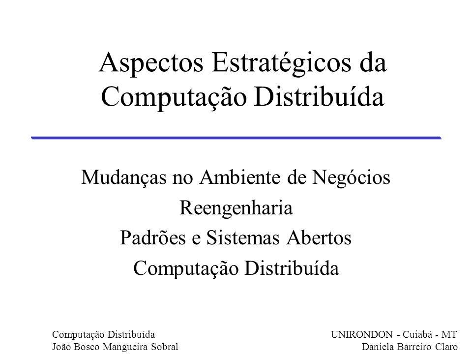 Aspectos Estratégicos da Computação Distribuída