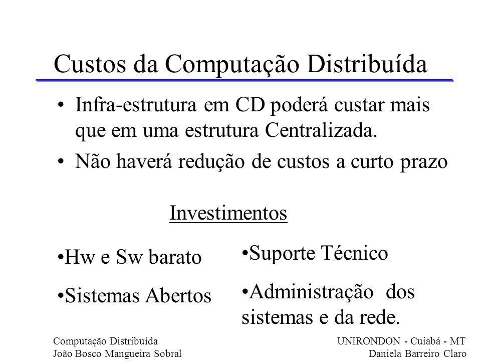 Custos da Computação Distribuída