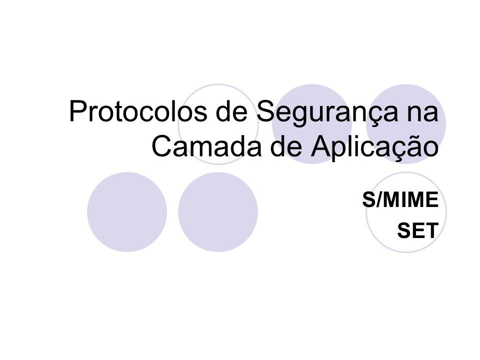 Protocolos de Segurança na Camada de Aplicação