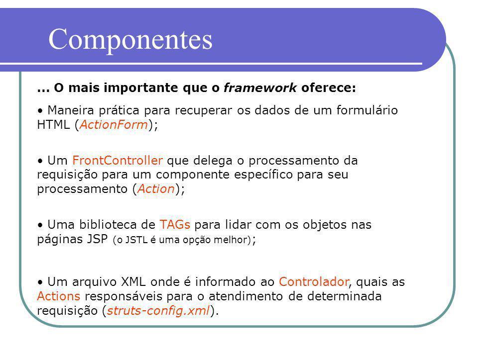 Componentes ... O mais importante que o framework oferece: