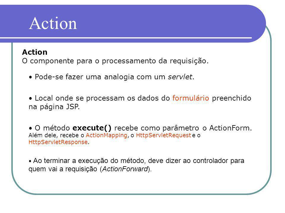 Action Action O componente para o processamento da requisição.