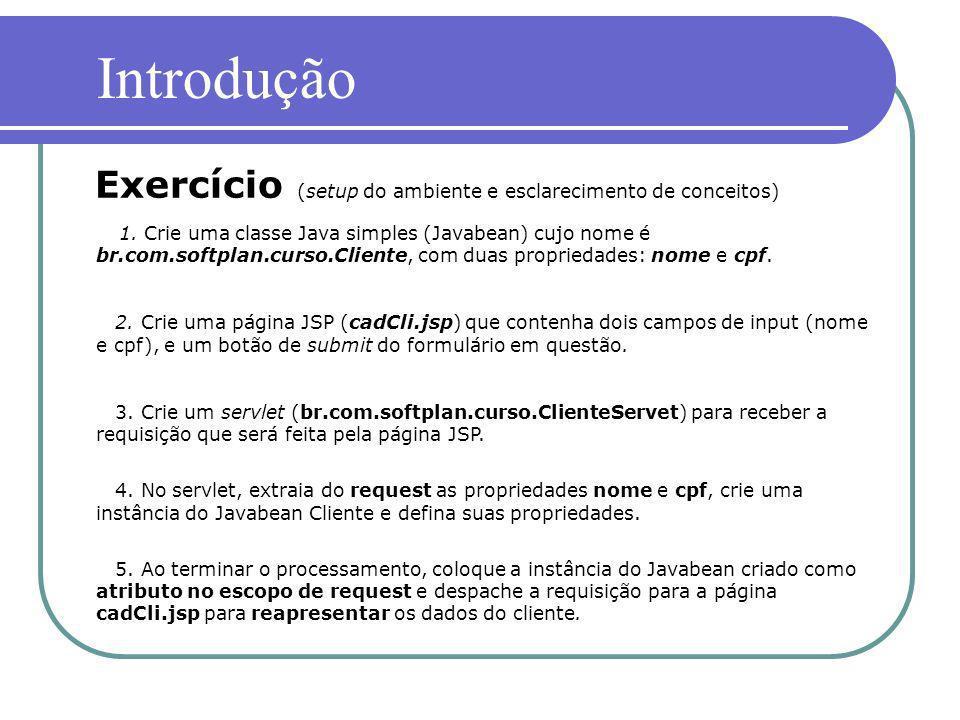 Introdução Exercício (setup do ambiente e esclarecimento de conceitos)