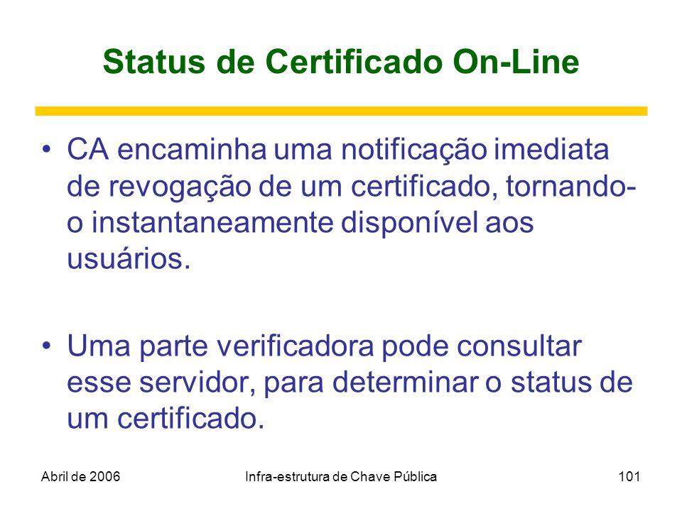 Status de Certificado On-Line