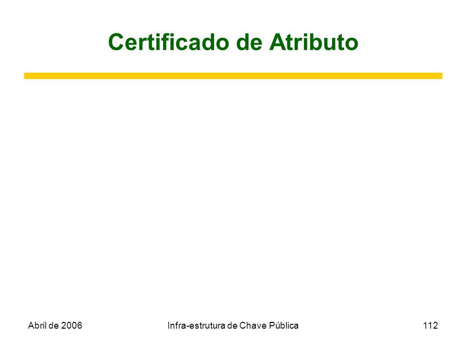 Certificado de Atributo