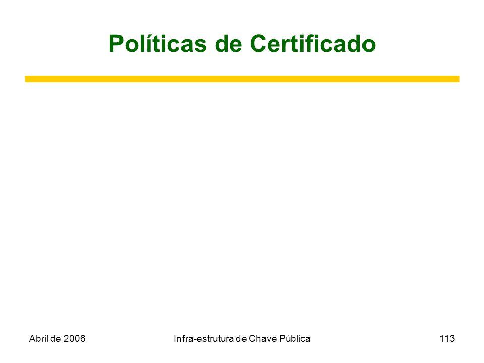 Políticas de Certificado