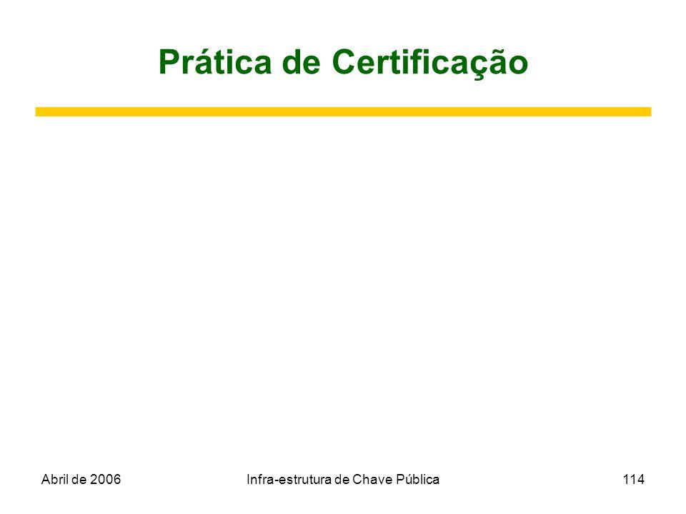 Prática de Certificação