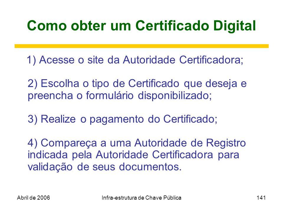Como obter um Certificado Digital