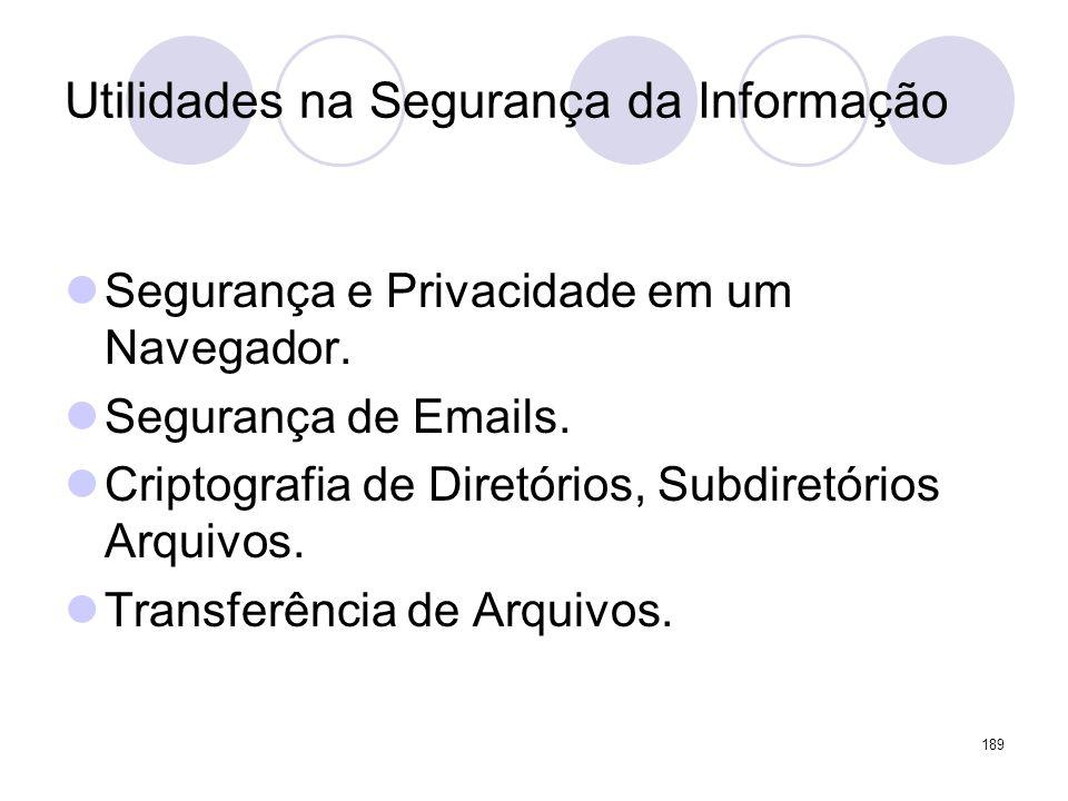 Utilidades na Segurança da Informação