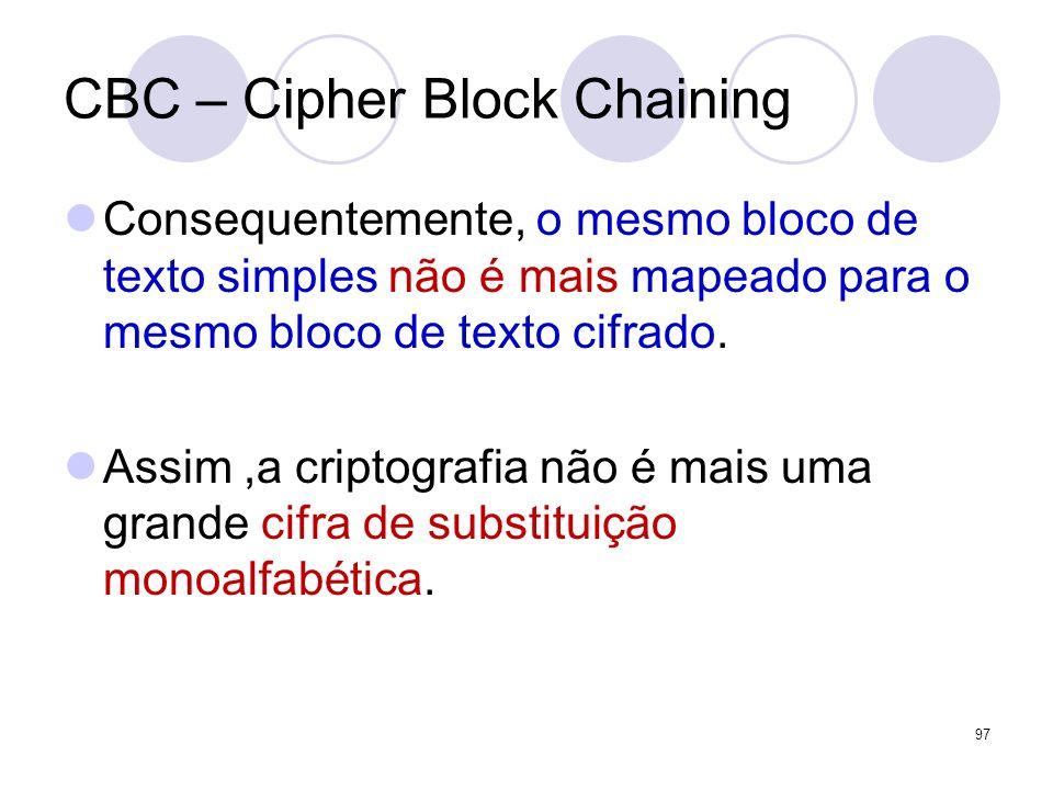 CBC – Cipher Block Chaining