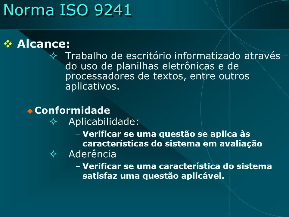 Norma ISO 9241 Alcance: