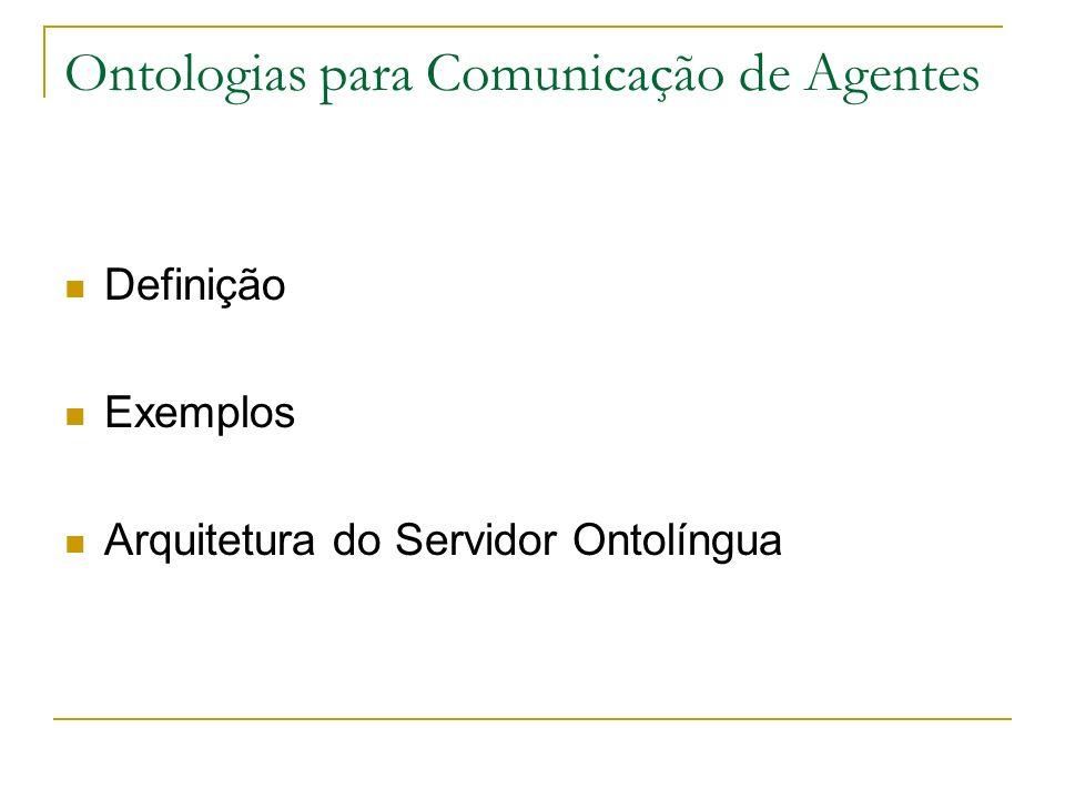 Ontologias para Comunicação de Agentes