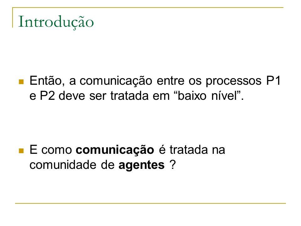 Introdução Então, a comunicação entre os processos P1 e P2 deve ser tratada em baixo nível .